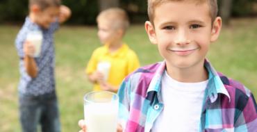 La importancia de la leche en la niñez